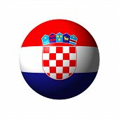 Sphere with Flag of Croatia