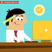 stock photo of diligent  - Business life - JPG