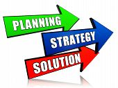 Planning, Strategy, Solution In Arrows