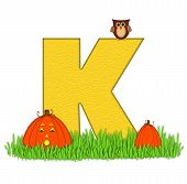 Alphabet Pumpkin Patch K