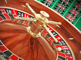 stock photo of poker machine  - Very high resolution rendering of a roulette - JPG