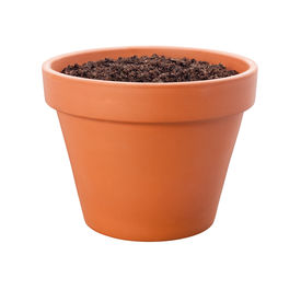 picture of flower pot  - Flower Pot with a clipping path isolated on white - JPG