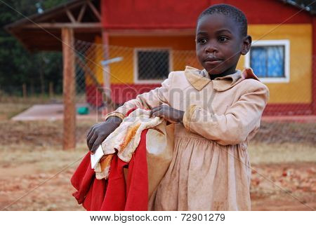 Moments Of Everyday Life Of The Children Of The Franciscan Mission Of The Village Of Pomerini In Tan