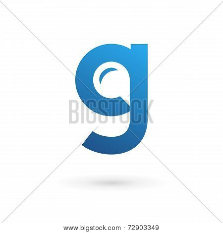 Letter G speech bubble logo icon design template elements. Vector color sign.