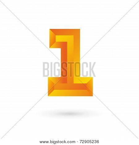 Number one 1 logo icon design template elements. Vector color sign.