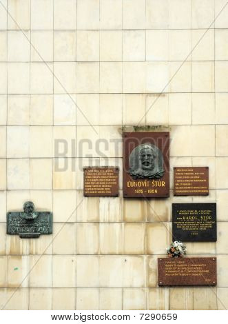 slovak famous people memorial wall