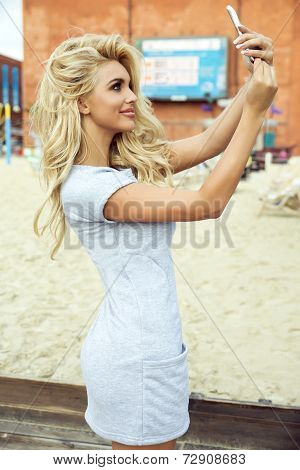 Blonde Lady With Beautiful Smile