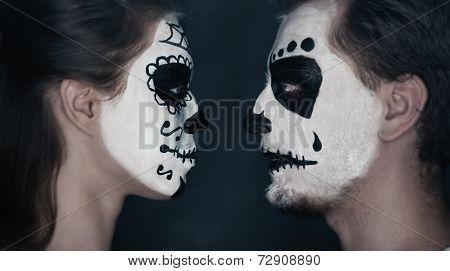 Halloween Couple In Love