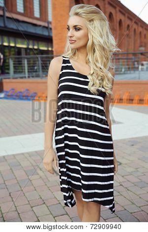 Attractive Blonde Woman Posing