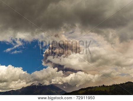 Tungurahua Volcano Intermittent Ash Emissions, South America
