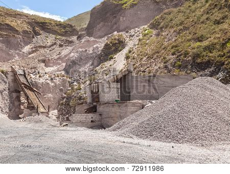 View Of Limestone Quarry, Mining Technique, South America