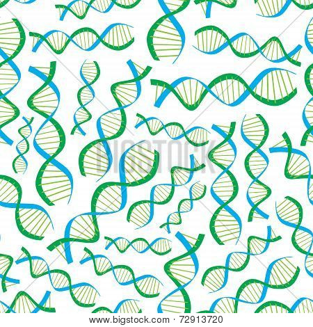 Dna Seamless Pattern Eps10