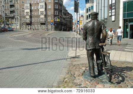 Old Marych Monument In Poznan, Poland