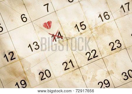 Broken Heart Valentine Day