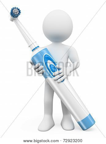 3D White People. Electric Toothbrush