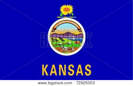 Flag Of The Us State Of Kansas