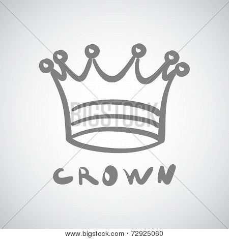 Crown icon king vector cute isolated success queen