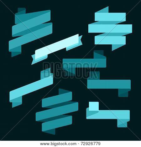 Infographics vector Creative trendy ribbon flat business financial