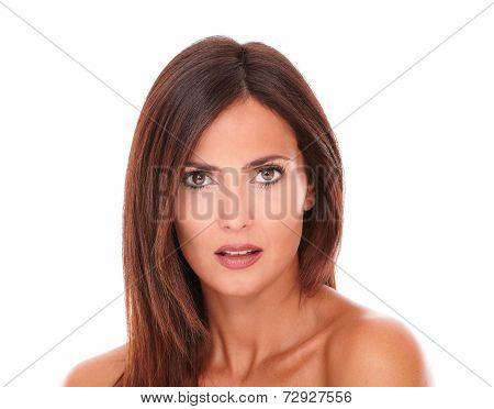 Charming Beautiful Sensual Latin Woman Isolated