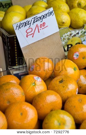 Honey Tangerines at Market