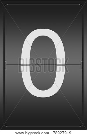 Number 0 On A Mechanical Leter Indicator