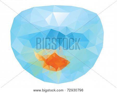 Polygonal Gold Fish