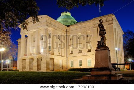 N.C.. State Capital, West Portico