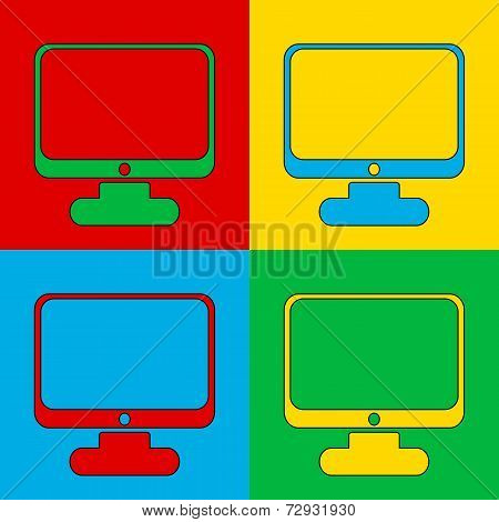 Pop Art Computer Symbol