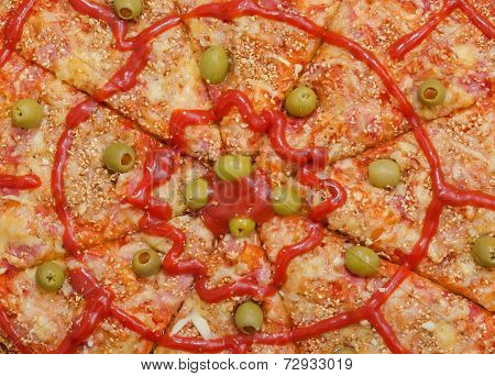 Sliced Pizza Background