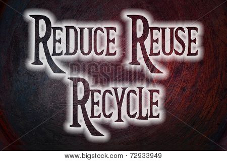 Reduce Reuse Recycle Concept