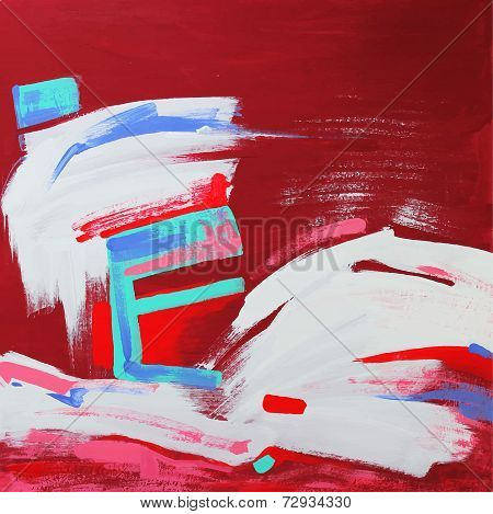 art composition of abstract background