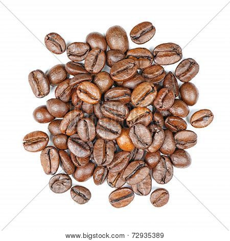 Coffee Beans Top View