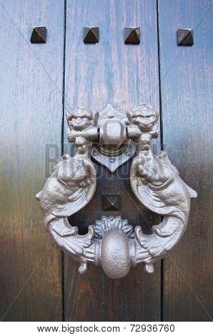 Doorknocker. Viggianello. Basilicata. Italy.