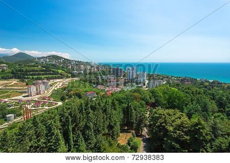 Urban Landscape Of The City Of Sochi Near Sea, Russia