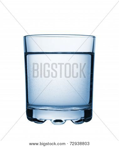 Glass With Carbonated Water. Isolated