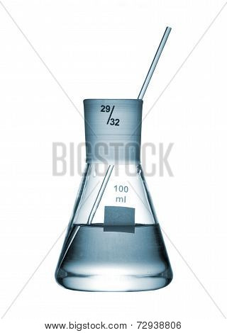 Erlenmeyer Flask With An Aqueous Solution