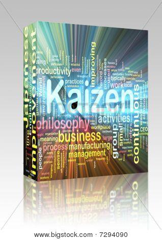 Kaizen Word Cloud Glowing Box Package