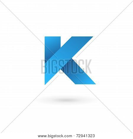 Letter K Logo Icon Design Template Elements. Vector Color Sign.
