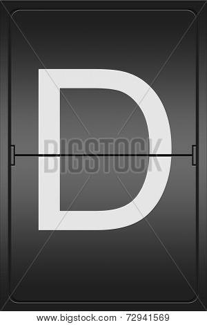Letter D On A Mechanical Leter Indicator
