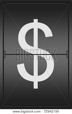 Dollar Sign On A Mechanical Leter Indicator