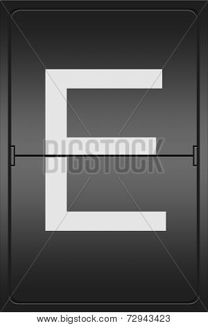 Letter E On A Mechanical Leter Indicator