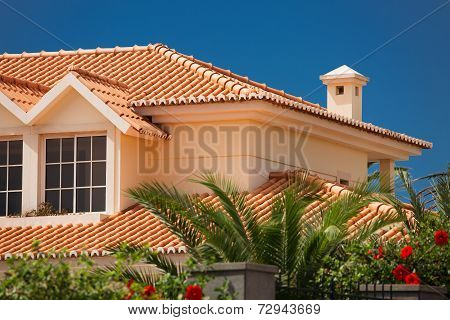 Tiled Roof Of A Large House