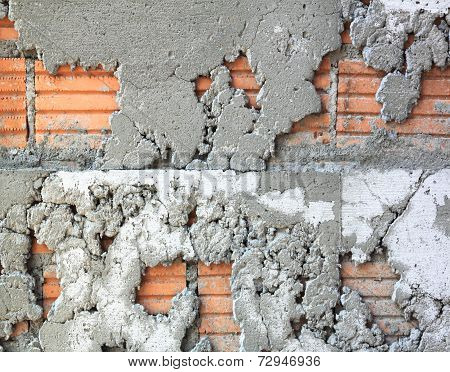 Texture Of Uneven Cement Wall