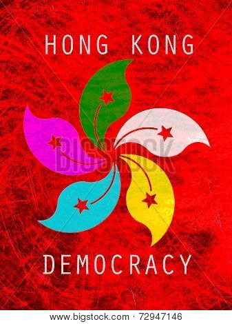 Democracy Hong Kong Poster