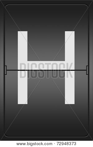 Letter H On A Mechanical Leter Indicator