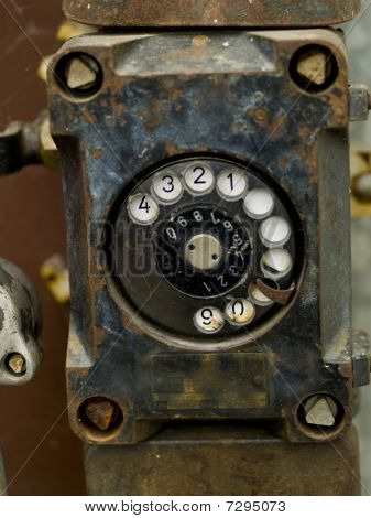 Close-up Of An Old Phone