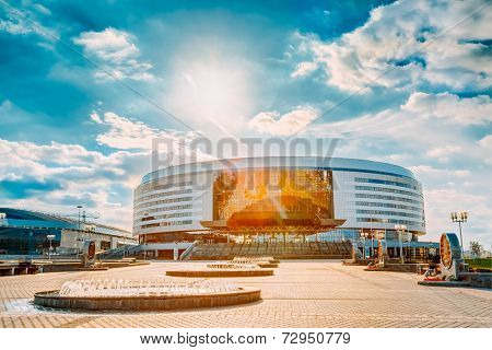 Minsk Arena In Belarus. Ice Hockey Stadium. Venue For 2014 World Championship Iihf.
