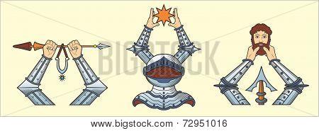 hands  dressed in steel lats