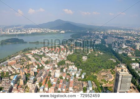 Purple Mountain and Xuanwu Lake in Nanjing, China