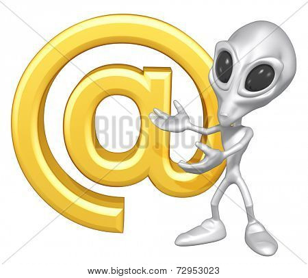 Mini Alien With Email